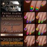 ~JJ~ The Glamorous Petite - Manicure - Rainbow