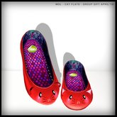 MDL - Cat Flats Red (Group Gift)