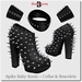 Spike Baby Metal Stud Boots, Collar & Bracelets
