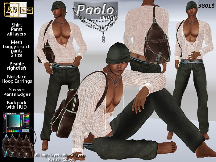 EB Atelier MEN - *PAOLO* Outfit with Backpack - italian designer