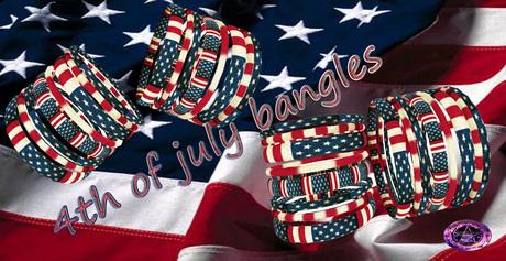 4th of july bangles