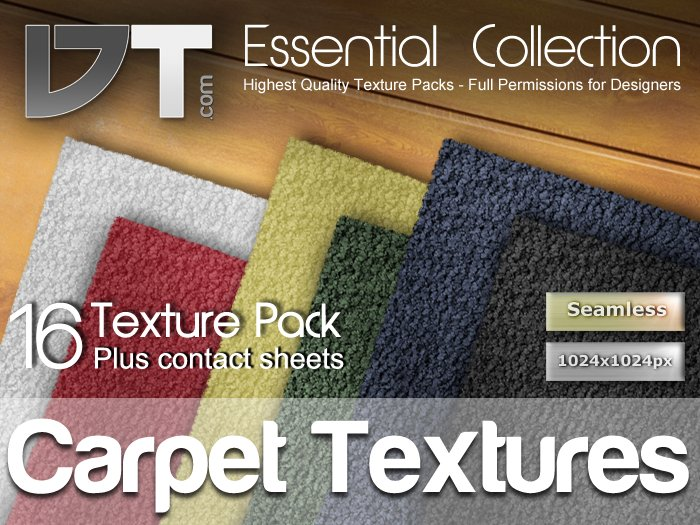 16 Carpet Textures - Full Perm - DT Essential Collection