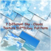 !BH ~ 7 Different Seamless  Sky-Clouds Textures 512-512 png