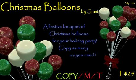 Christmas New Year's Eve Balloons by sami