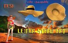 LE:MON mesh straw hat