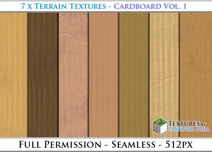 Object Textures: Cardboard Vol. 1 - Full Permissions