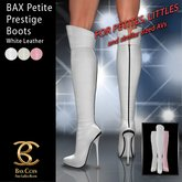 BAX Petite Prestige Boots White Leather