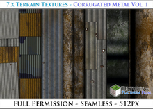 Terrain Textures: Corrugated Metal Vol. 1 - Full Permissions