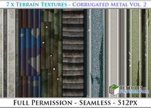 Terrain Textures: Corrugated Metal Vol. 2 - Full Permissions