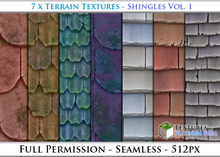 Terrain Textures: Shingles Vol. 1 - Full Permissions