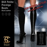 BAX Petite Prestige Boots Black Leather
