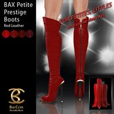 BAX Petite Prestige Boots Red Leather