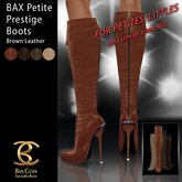 BAX Petite Prestige Boots Brown Leather