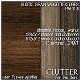 Clutter for Builders - Rustic Grain Wood Textures III