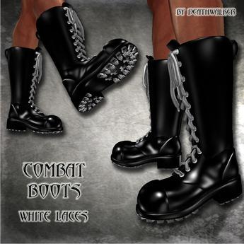 Combat Boots White Laces