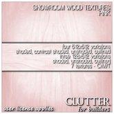 Clutter for Builders - Showroom Pink Wood Textures