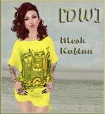 [DandelionWine] Mesh Kaftan My Cats Yellow All Size