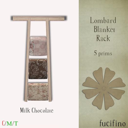 Second Life Marketplace Fucifino Lombard Blanket Racks Milk Chocolate