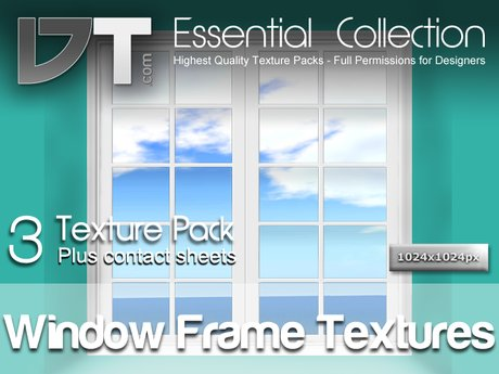 3 Window Frame Textures - Full Perm - DT Essential Collection