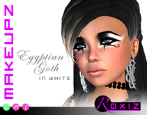 ROXIZ... MAKEUPZ > Egyptian Goth in White