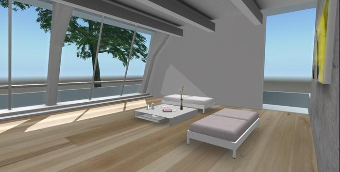 Designer Prims Romantic Loft Space - Mesh, House, Prefab, Skybox