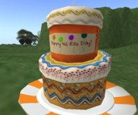 Second Life Rez Day Cake