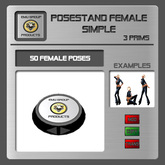 EMU *PROMO* Posestand Female Simple - 50 Poses
