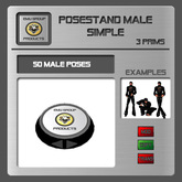 EMU *PROMO* Posestand Male Simple - 50 Poses