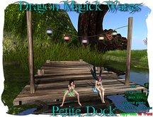 Dragon Magick Wares Petite Dock with Hanging Lanterns