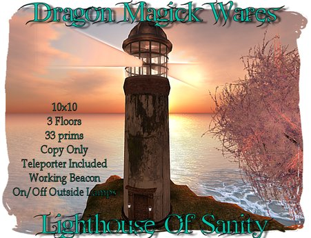 Dragon Magick Wares Lighthouse of Sanity