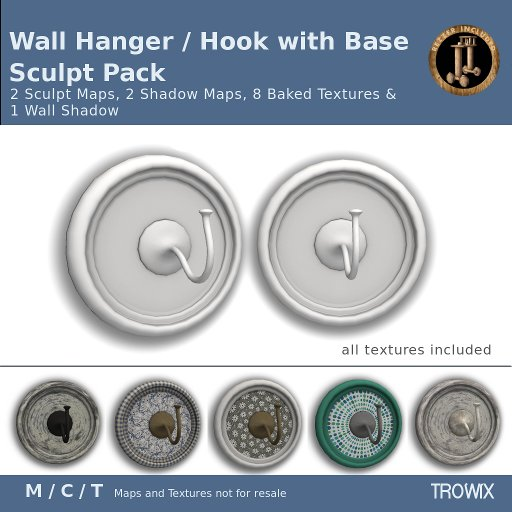 Trowix - Wall Hanger/Hook w Base Sculpt Pack