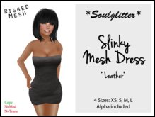 GIFT *Soulglitter* Mesh Dress 'Leather'