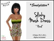 GIFT *Soulglitter* Mesh Dress 'Floral'