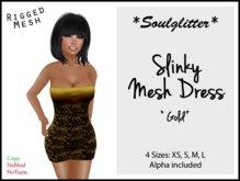 GIFT *Soulglitter* Mesh Dress 'Gold'