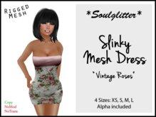 GIFT *Soulglitter* Mesh Dress 'Vintage Roses'