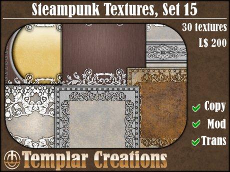 Steampunk Textures - Set 15