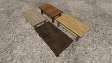 Mesh Coffee Tables Pack Wood Pack