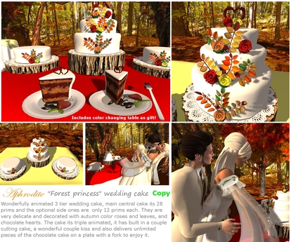 """Aphrodite """"Forest princess"""" wedding cake with animations"""