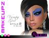 ROXIZ... MAKEUPZ > Vampy Girl Style 2 in Blue