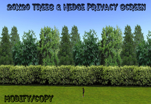 20x20 Trees & Hedge Privacy Screen (Seamless)