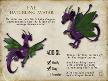 Fae Hatchling - Tiny Dragon Avatar