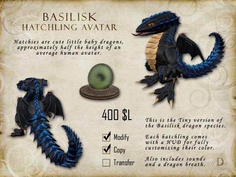 Basilisk Hatchling - Tiny Dragon Avatar