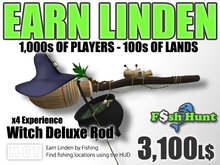 Linden Fish Hunter - Witch Deluxe Rod - Earn Linden by hunting for fish