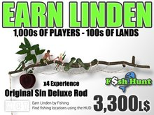 Linden Fish Hunter - Original Sin Deluxe Rod - Earn Linden by hunting for fish