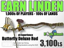 Linden Fish Hunter - Butterfly Deluxe Rod - Earn Linden by hunting for fish