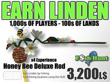 Linden Fish Hunter - Honey Bee Deluxe Rod - Earn Linden by hunting for fish
