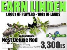Linden Fish Hunter - Nest Deluxe Rod - Earn Linden by hunting for fish
