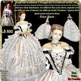 Wunderlich's Black Empress Elisabeth Hungarian Coronation Gown