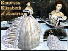 Wunderlich's Blue Empress Elisabeth Hungarian Coronation Gown