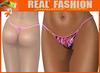 """String mesh panties """"Animal print pink"""""""